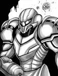 Inktober (Day 22) - Samus (Metroid)