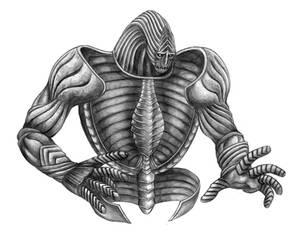 Final Fantasy VIII - Gargantua (Line Art) by SoulStryder210