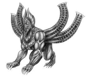 Final Fantasy VIII - Spinxara (Line Art) by SoulStryder210