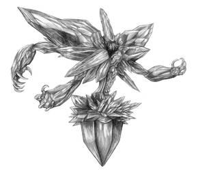 Final Fantasy VIII - Krysta (Line Art) by SoulStryder210