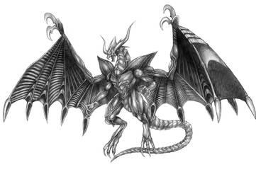 Final Fantasy VIII - Tiamat (Line Art) by SoulStryder210