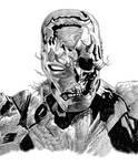 Inktober 2020 (Day 1) - Zombie Iron Man