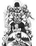 Inktober 2020 (Day 8) - Batman (Villains)