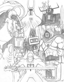 Narita Boy (Feel the Force) Sketch