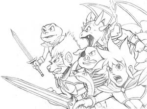Monster Boy and the Cursed Kingdom (Sketch)
