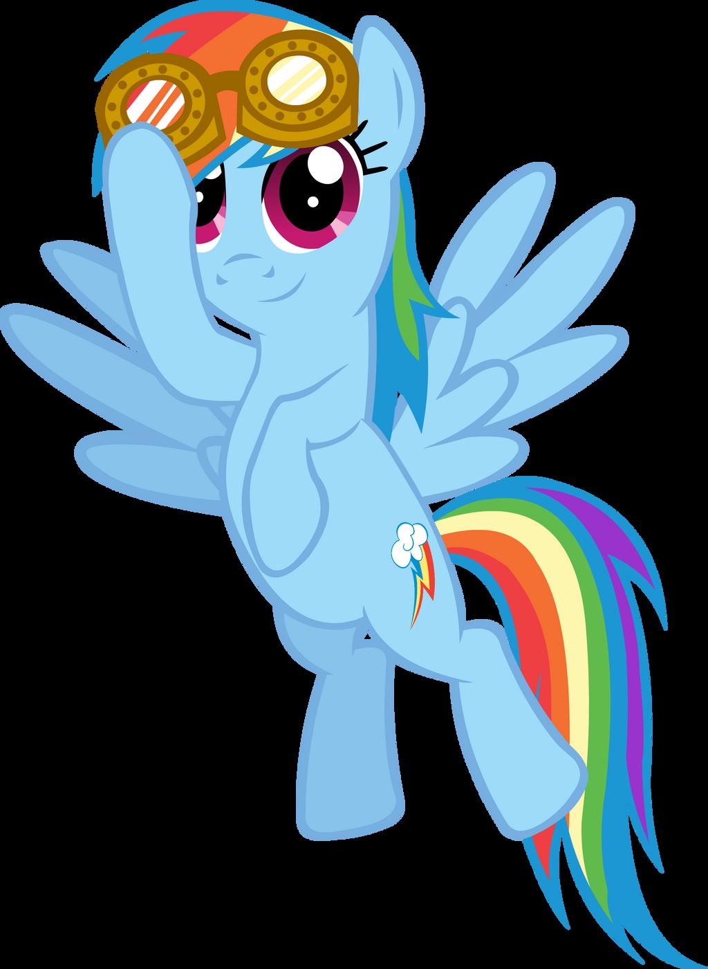 Rainbow Dash steampunk goggles by somekindahatebreeder