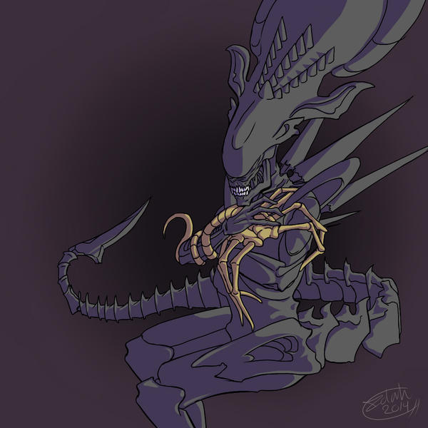 Xenomorph Queen and her spawn by Illenora on DeviantArt