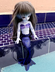 Aria's First Poolside Dip by Kelaria-Daye