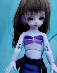 Purple Mermaid, Turquoise Water by Kelaria-Daye