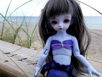 Aria's Beach Visit by Kelaria-Daye