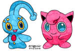 Manaphy and Jigglypuff