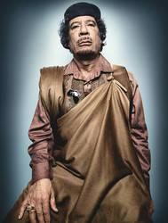 Colonel Muammar Gaddafi by TiGer4iQ