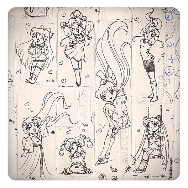 Sailor Moon while I study :P by naylapulga