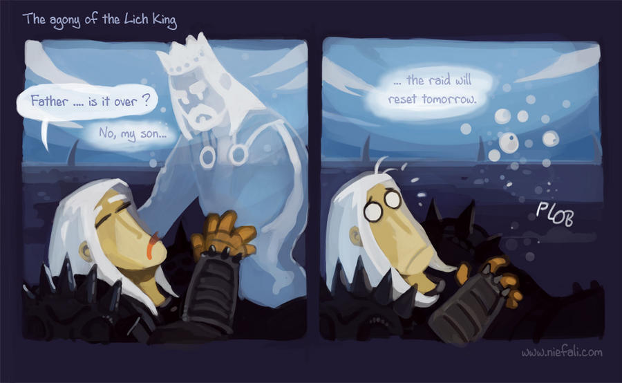 The agony of the Lichking by Vaejoun