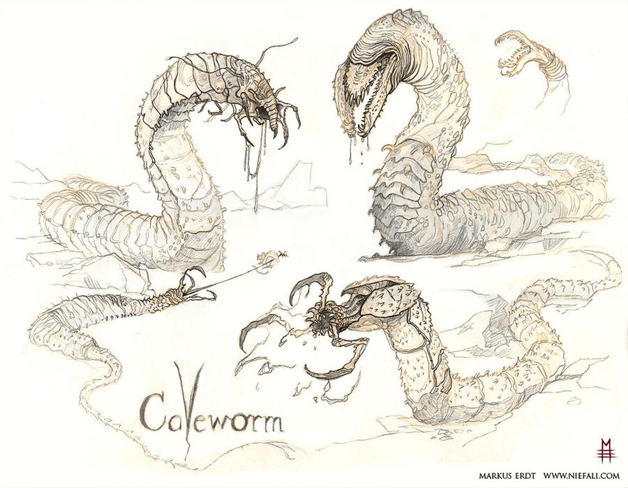 DnD Cave worm by Vaejoun