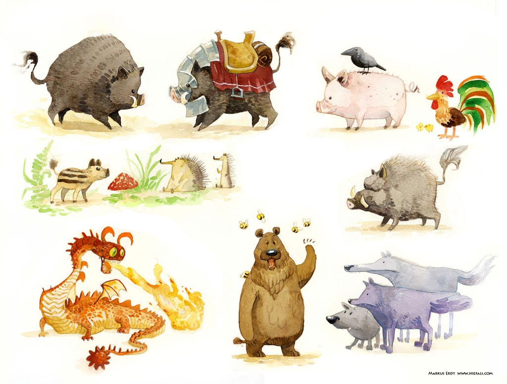 Forest animals by Vaejoun