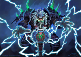 Wow private commission - Orc shaman by Vaejoun
