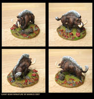 Giant Boar Miniature by Vaejoun