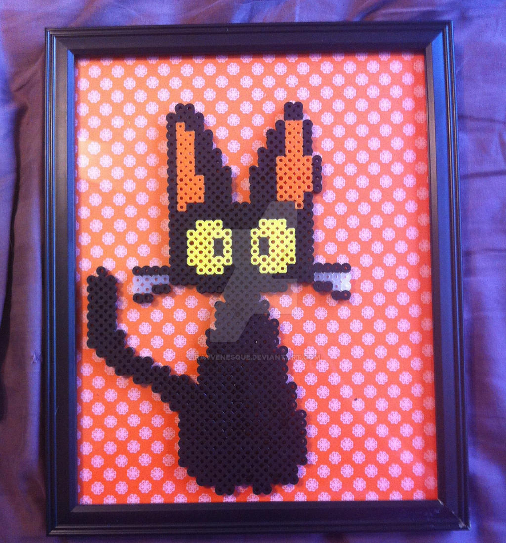 Jiji perler portrait by ravvenesque on DeviantArt