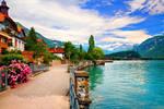 Swiss Lakeside Town