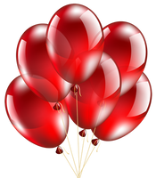 Red Balloons Transparent PNG by makiskan