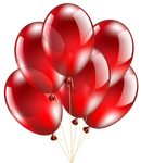 Red Balloons Transparent PNG