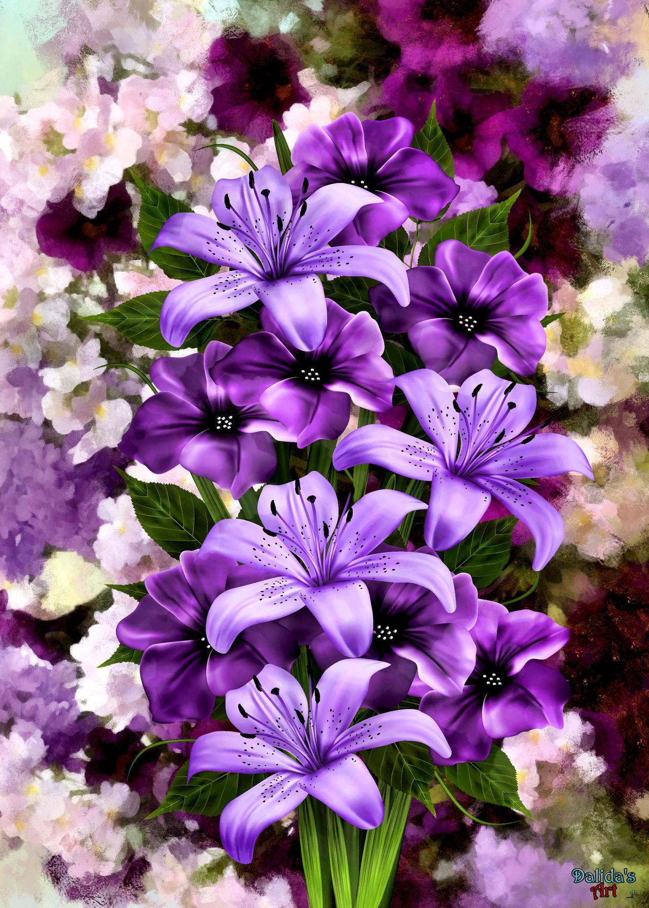 Exotic Flowers Bouquet by makiskan on DeviantArt