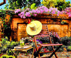 Hat in Garden by makiskan