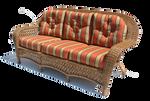 Wicker sofa PNG