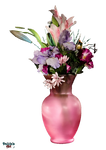 Pink - Flowers - Vase PNG