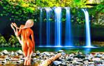 Girl in the waterfall (2)