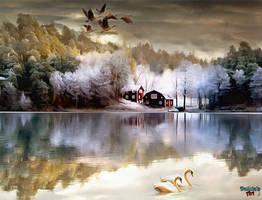 Calm Lake by makiskan