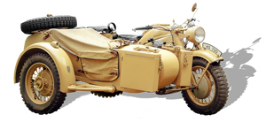 Zundapp-ks (old motorcycle sidecar png)