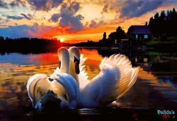 Sunset On The Lake by makiskan