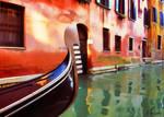 Venice, Gondola on the canal