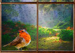 Redbreast In Window