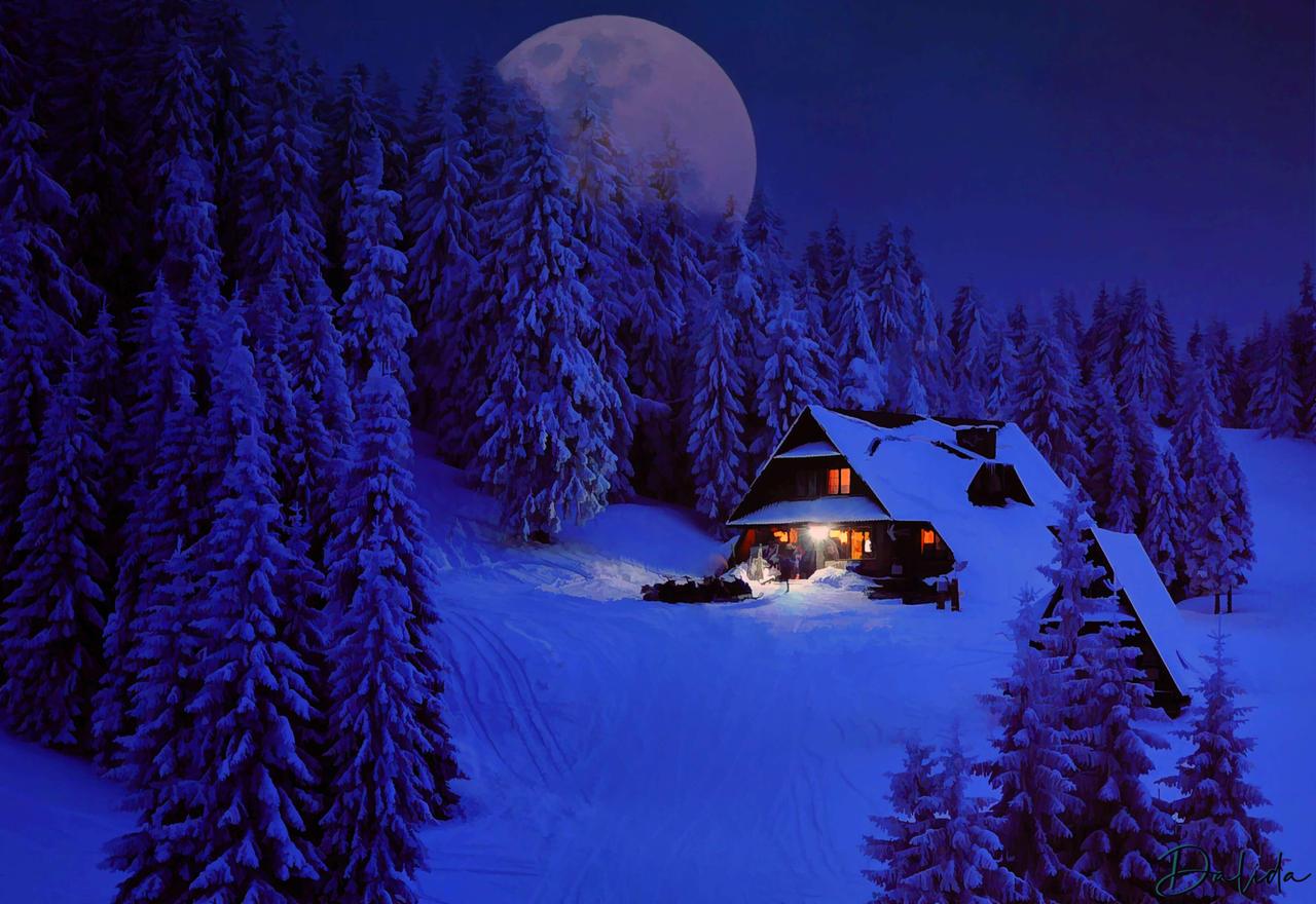 Snow Supermoon