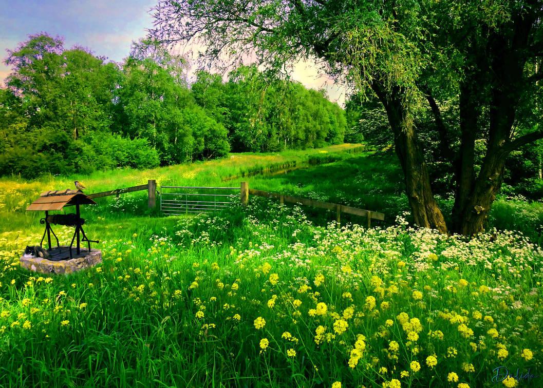 Spring Landscape by Dalidas-Art