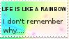 life is like a rainbow stamp by Ponnakoona