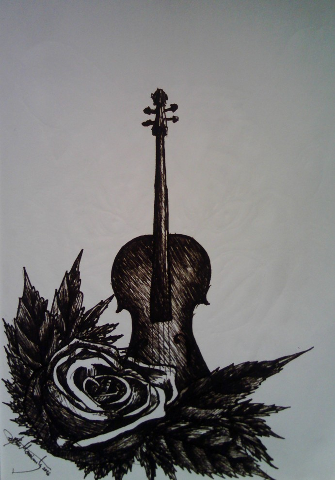 The Violin And The Rose - sketch by Moreirarty