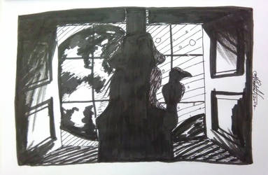 Mysterious  - day 15 inktober by Moreirarty