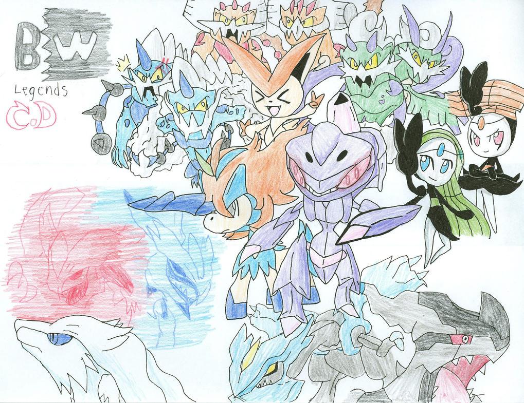 Pokemon Black and White legendaries by ColorDrake on ... Legendary Pokemon Black And White