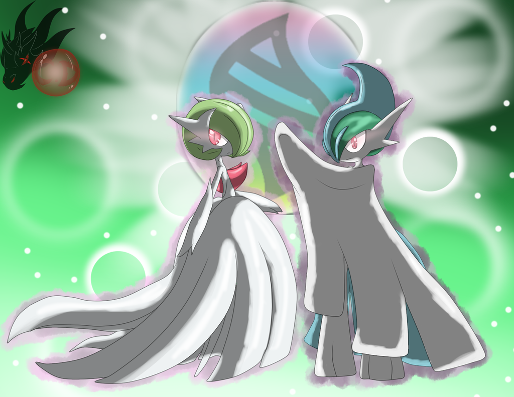 Shiny Mega Gardevoir Wallpaper: Mega Gallade, Mega Gardevoir ( We Fight As One! ) By