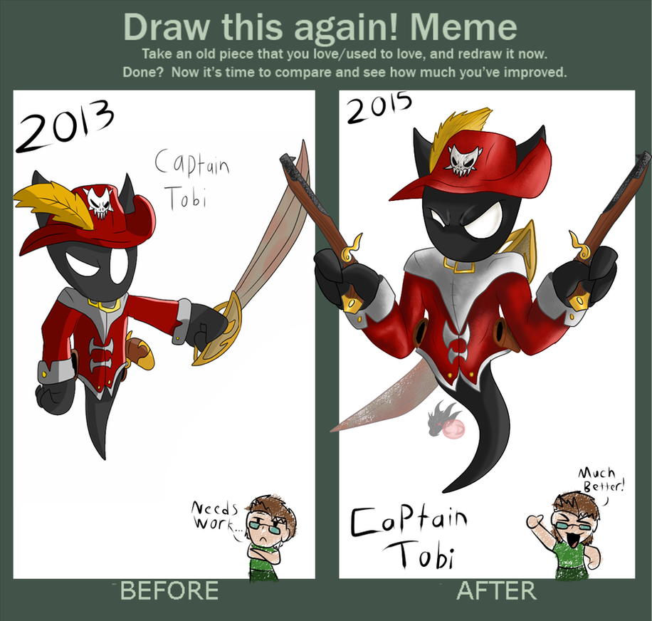 ( Draw It Again ) Captain Tobi Reborn by ColorDrake