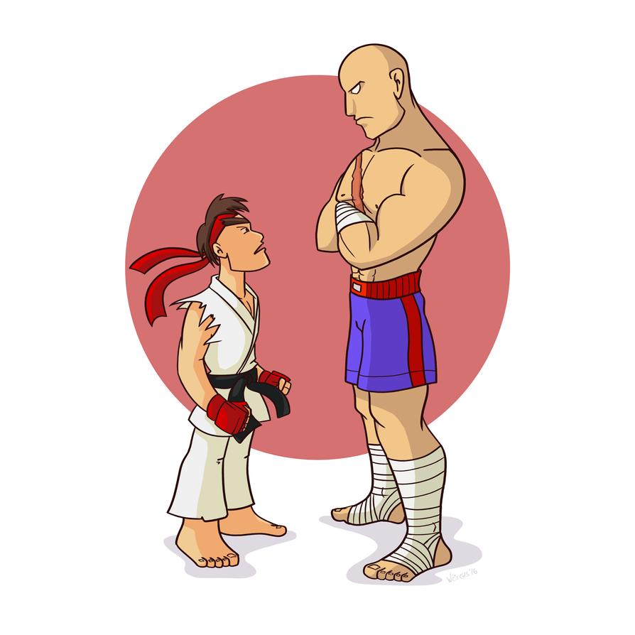 Ryu x Sagat by wregis