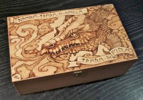 Pyrography dragon box