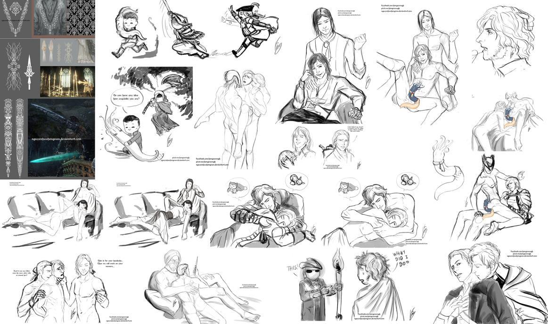 Soulborne Sketch Dump by NguyenHuuHongVan