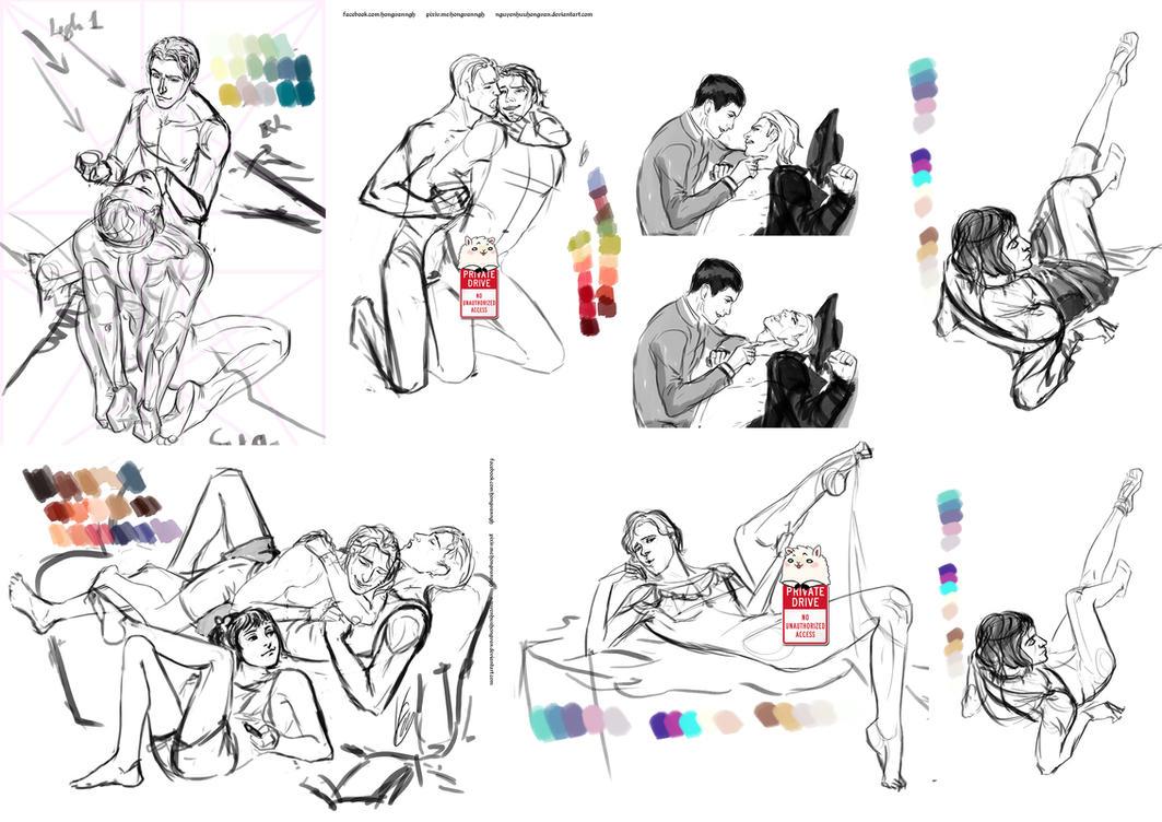Sketch Dump (Oc +Soulsborne) by NguyenHuuHongVan