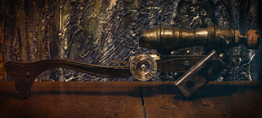Steampunk plasma rifle by FraterOrion
