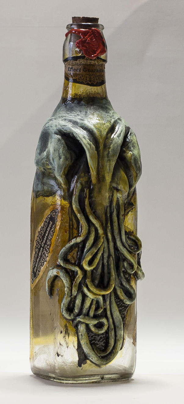 Cthulhu  Syrup Bottle by FraterOrion